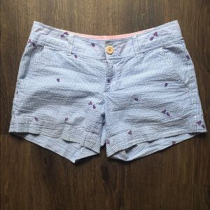 Lilly Pulitzer Blue & White Embroidered Shorts 2